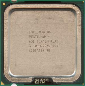 cpu intel 651
